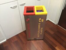 Double 50 Litre Stainless Steel Colour Coded Recyclers