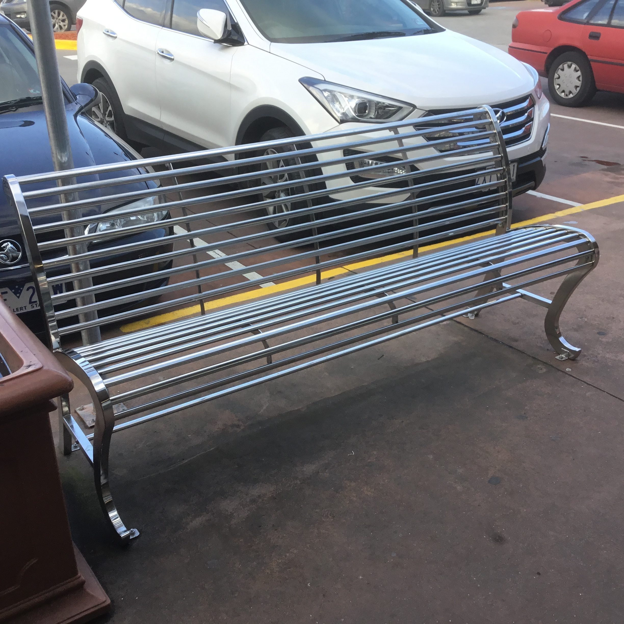 Stainless Steel Park Benches Grade 304 Stainless Steel Eco Elegance