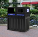 Archtec Parkview Double Recycling Containers