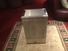 Swing Lid Stainless Steel Bin 48L Patterned