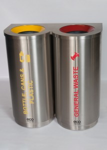 Double Stainless Steel Colour Coded Recyclers (47L Each)