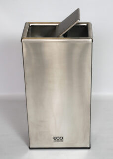 Flip Top Stainless Steel Rectangular Rubbish Bin