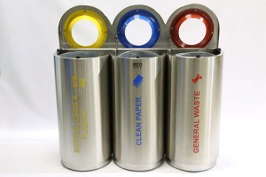 Eco Triple Stainless Steel Colour Coded Recyclers