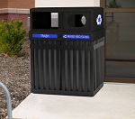 Archtech Parkview Double Trash Recycling Bins