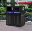 Archtec Parkview Recycling Bins - Double