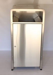 Stainless Steel Street Bin Enclosure Full Size