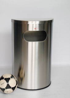 Half Moon Stainless Steel 50 litre capacity Bin