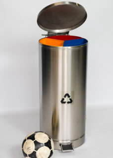 Stainless Steel 3 Part Small Recycle Bin