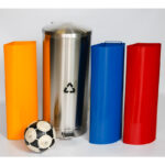 Stainless Steel Recycle Bin with 3 Inner Liners