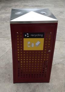 Lockable Public Recycle Bin