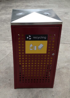 Lockable Public Recycle Bin