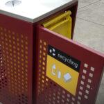 Large Public Recycle Bin Enclosure