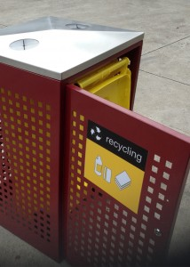 Large Public Recycle Bin Enclosure