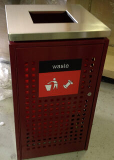 Large Rubbish Bin For Busy Public Spaces