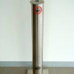 Floor Model Freestanding Stainless Steel Ashtray