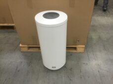 Open Top 70L Pure White SS Waste Bin