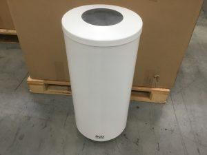 70L White Stainless Steel Waste Bin